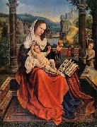 Bernard van orley Mary with Child and John the Baptist oil painting artist