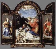 CARRACCI, Annibale Triptych oil painting reproduction
