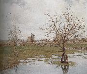 Camille Pissarro flooded grassland oil painting reproduction