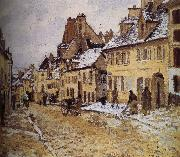 Camille Pissarro Leads to the loose multi tile this lucky Shao road oil painting reproduction