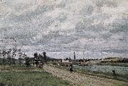 Camille Pissarro Schwartz of Schwartz Metaponto riparian oil painting reproduction