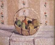 basket of apples and pears, Camille Pissarro