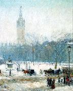 Snowstorm, Madison Square, Childe Hassam