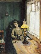 Christian Krohg Trett oil painting