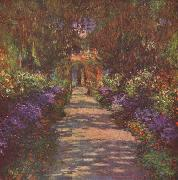Garden Path,, Claude Monet