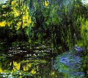 Water Lily Pond and Weeping Willow,, Claude Monet