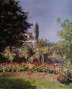Flowering Garden at Sainte Adresse,, Claude Monet