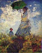 Woman with a Parasol,, Claude Monet