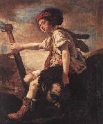FETI, Domenico David with the Head of Goliath oil painting