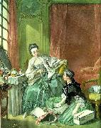 Francois Boucher the haberdasher oil painting on canvas