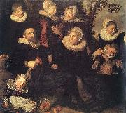 Family Portrait in a Landscape WGA, Frans Hals