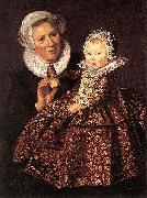 Catharina Hooft with her Nurse WGA, Frans Hals