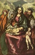 GRECO, El holy family oil painting reproduction