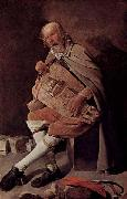 Georges de La Tour Hurdy gurdy player oil painting reproduction