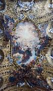 The Worship of the Holy Name of Jesus, with Gianlorenzo Bernini, on the ceiling of the nave of the Church of the Jesus in Rome., Giovanni Battista Gaulli Called Baccicio
