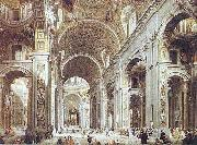 St. Peter Basilica, from the entrance, Giovanni Paolo Pannini