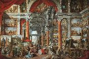 Picture gallery with views of modern Rome, Giovanni Paolo Pannini