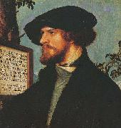 Portrait of Bonifacius Amerbach, Hans holbein the younger