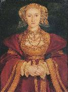 Portrait of Anne of Cleves,, Hans holbein the younger