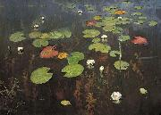 Isaac Levitan Water lilies oil painting reproduction