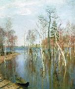 Isaac Levitan Spring, High Water oil painting reproduction