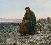 Ivan Kramskoi Christ in the desert, oil painting artist