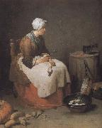 Jean Baptiste Simeon Chardin Exhausted radish skin s mother oil painting reproduction