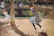 Joaquin Sorolla Elaine and Mary in the skipping oil painting artist