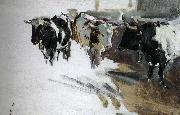 Joaquin Sorolla Bull Project oil painting reproduction
