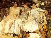 My Wife and Daughters in the Garden,, Joaquin Sorolla