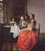 The Girl with a Wine Glass,, Johannes Vermeer