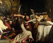 John Opie The Murder of Rizzio, by John Opie oil painting on canvas