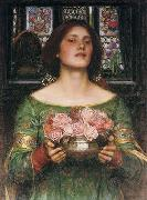 Gather Ye Rosebuds While Ye May..., John William Waterhouse