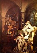 The Alchemist in Search of the Philosopher Stone,, Joseph wright of derby