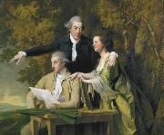 D Ewes Coke his wife, Hannah, and his cousin Daniel Coke, by Wright,, Joseph wright of derby