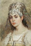 Konstantin Makovsky Boyaryshnya oil painting reproduction