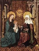 Virgin and Child with St Anne, Master of the Housebook