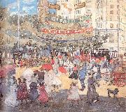 Maurice Prendergast Madison Square oil painting reproduction