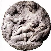 Madonna and Child with the Infant Baptist, Michelangelo Buonarroti