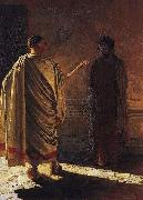 Nikolai Ge Quod Est Veritas Christ and Pilate oil painting