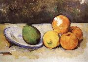 and fruit have a plate of still life, Paul Cezanne
