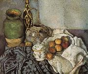 bottle of still life of fruit, Paul Cezanne