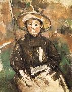 children wearing straw hat, Paul Cezanne