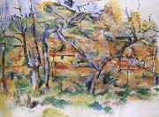and tree house, Paul Cezanne