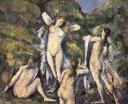 Bath four women who, Paul Cezanne