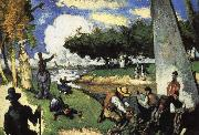 Paul Cezanne fisherman oil painting reproduction