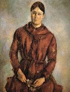 to wear red clothes Mrs Cezanne