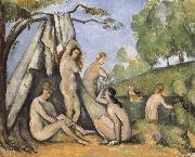Bath woman who, Paul Cezanne