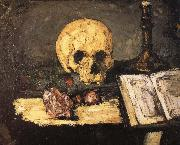 bones and candlestick, Paul Cezanne