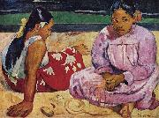 Paul Gauguin Tahitian Women on the Beach oil painting reproduction